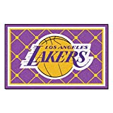 FANMATS NBA Los Angeles Lakers Nylon Face 5X8 Plush Rug