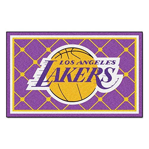 FANMATS NBA Los Angeles Lakers Nylon Face 5X8 Plush Rug by Fanmats