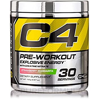 Cellucor, C4 Pre Workout (Old Formula) Supplements with Creatine, Nitric Oxide, Beta Alanine and Energy, G4v1, 30 Servings, Strawberry Margarita