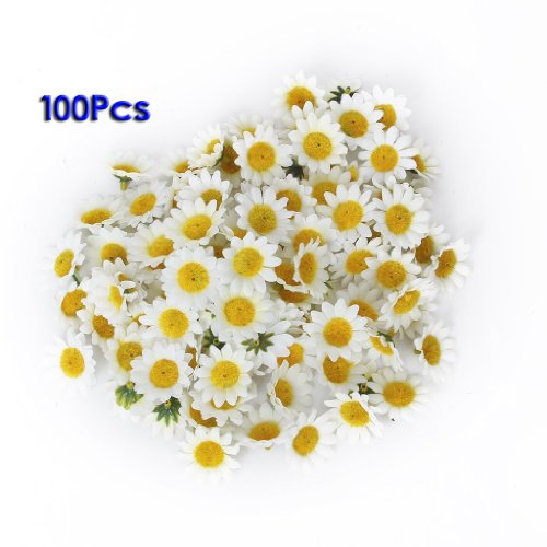 Artificial Daisy Flower Head (White) 100 cnt