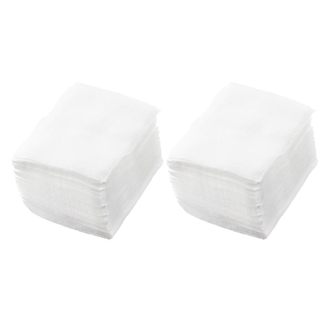 SODIAL(R) 320pcs Lady White Nail Polish Remover Rectangular Face Cleaning Cotton Pads