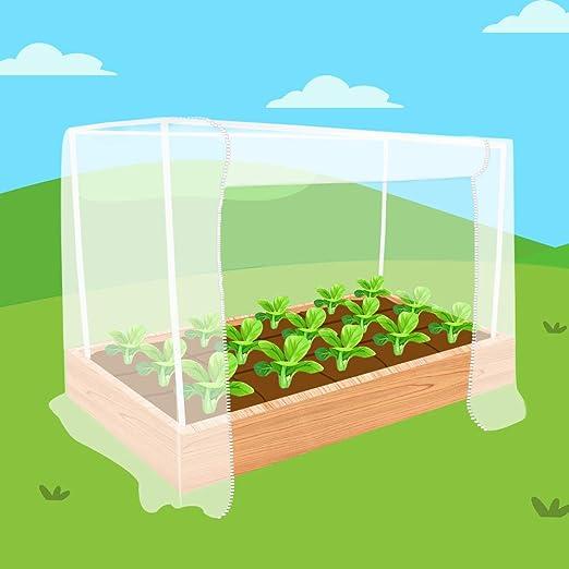 Ecover - Red de jardín de 5 Lados con Marco para Proteger Plantas ...