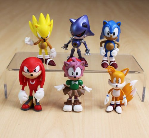 "New Sonic The HEDGEHOG Characters PVC 2.2"" Figure Doll Set Of 6pcs toys"