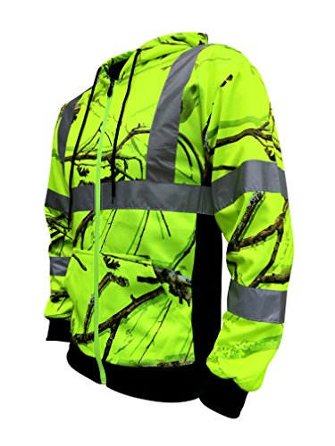 SafetyShirtz SS360 Backwoods Safety Zip-UP Hoody ANSI Class 3 XL ()