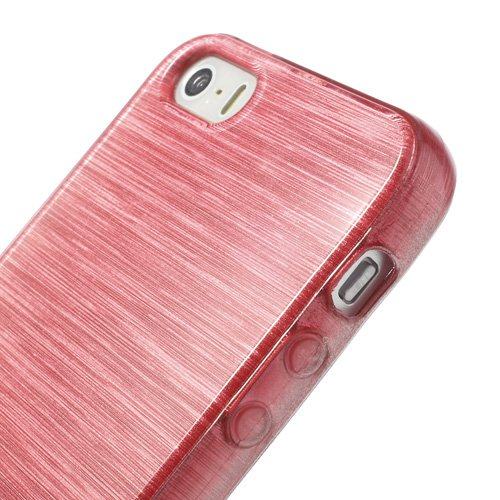 iProtect Apple iPhone 5, 5s, SE Hülle Soft Case TPU Schutzhülle Brushed Edition Pink