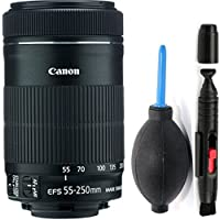 Canon 55-250mm IS STM Lens + Deluxe Lens Cleaning Pen + Deluxe Lens Blower Brush