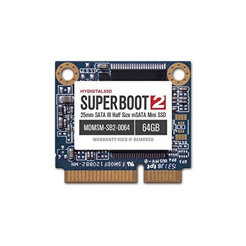 25mm Boots - MyDigitalSSD Super Boot 2 (SB2) SATA III (6G) SSD (64GB, mSATA mini (25mm))