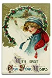 Best Lantern Press Wishes Signs - Lantern Press with Best Year Wishes Sledding Scene Review