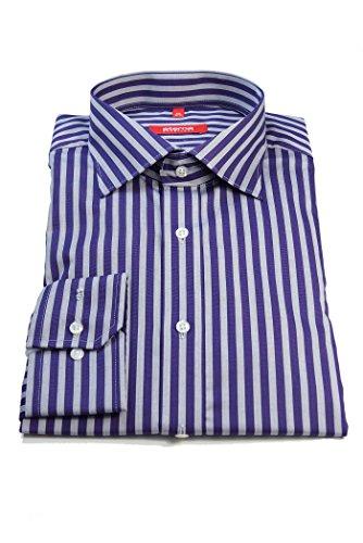 Eterna Redline camicia grigio lilla a righe taglia 44