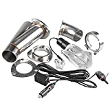 Ruien 3 Inch/76mm 1PCS Electric Exhaust Cutout Y Pipe Valve Motor Kit with Manual Switch