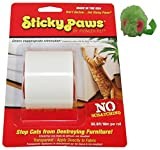 Sticky Paws Scratch Control Cat Training Aid ~ Scratch Deterrent ~ Includes Micro Mouse Catnip Toy!