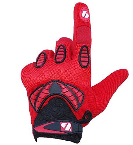 FRG-02 American Football Handschuhe Receiver, Empfänger fit, RE,DB,RB, rot (2XL)