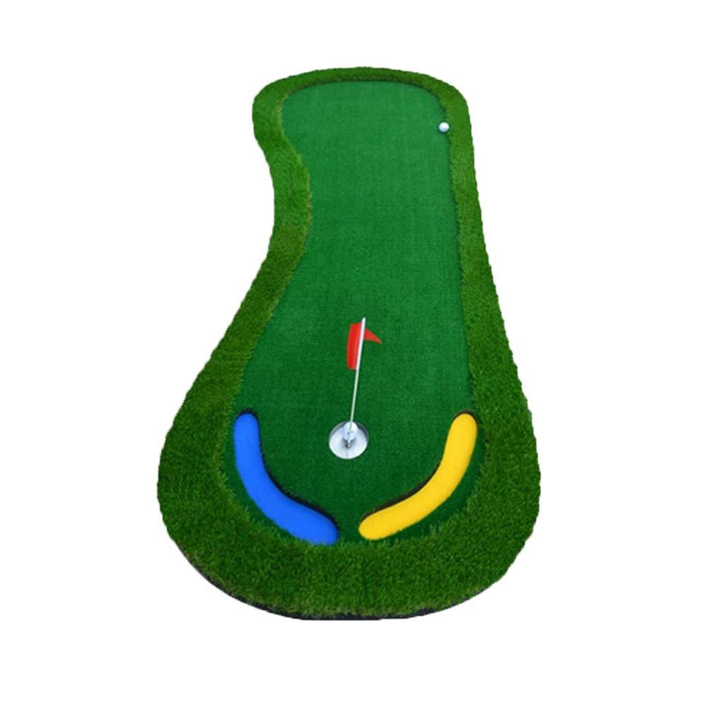 ゴルフマット ゴルフパターパッドグリーン屋内と屋外のプロフェッショナルポータブルパター練習セットミニパタートレーナー90 X 300センチメートル 屋内屋外のファミリーファンゲーム