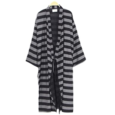 ad57aaf9b9 Image Unavailable. Image not available for. Color  FANCY PUMPKIN Men s  Japanese Style Robes Pure Cotton Kimono Robe Bathrobe Pajamas ...
