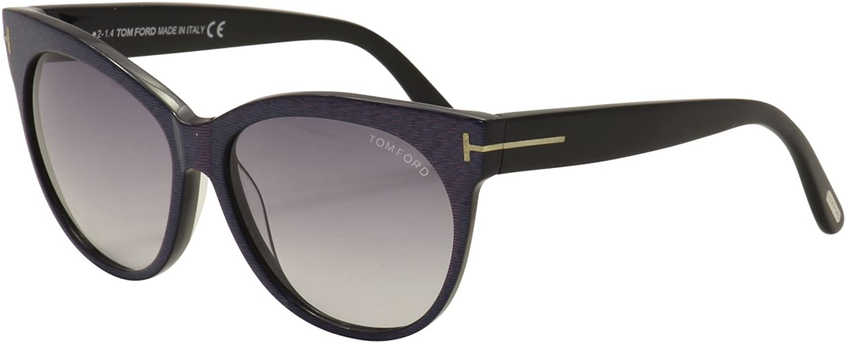 96821792761a Tom Ford Women's 0330 Striped Violet Frame/Gradient Smoke Lens ...
