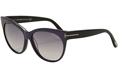 f1bbe9c44c Image Unavailable. Image not available for. Color  Tom Ford Saskia FT0330  Sunglasses-82B Blue Purple ...