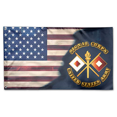 NPZBHoney3x5 American Flag US Army Signal Corps Flag 3' X 5' Ft Banner Breeze Flag
