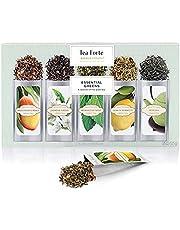 Tea Forte Tea Forté SINGLE STEEPS Essential Greens Campionario con tè in foglie assortiti, 15 bustine monoporzione