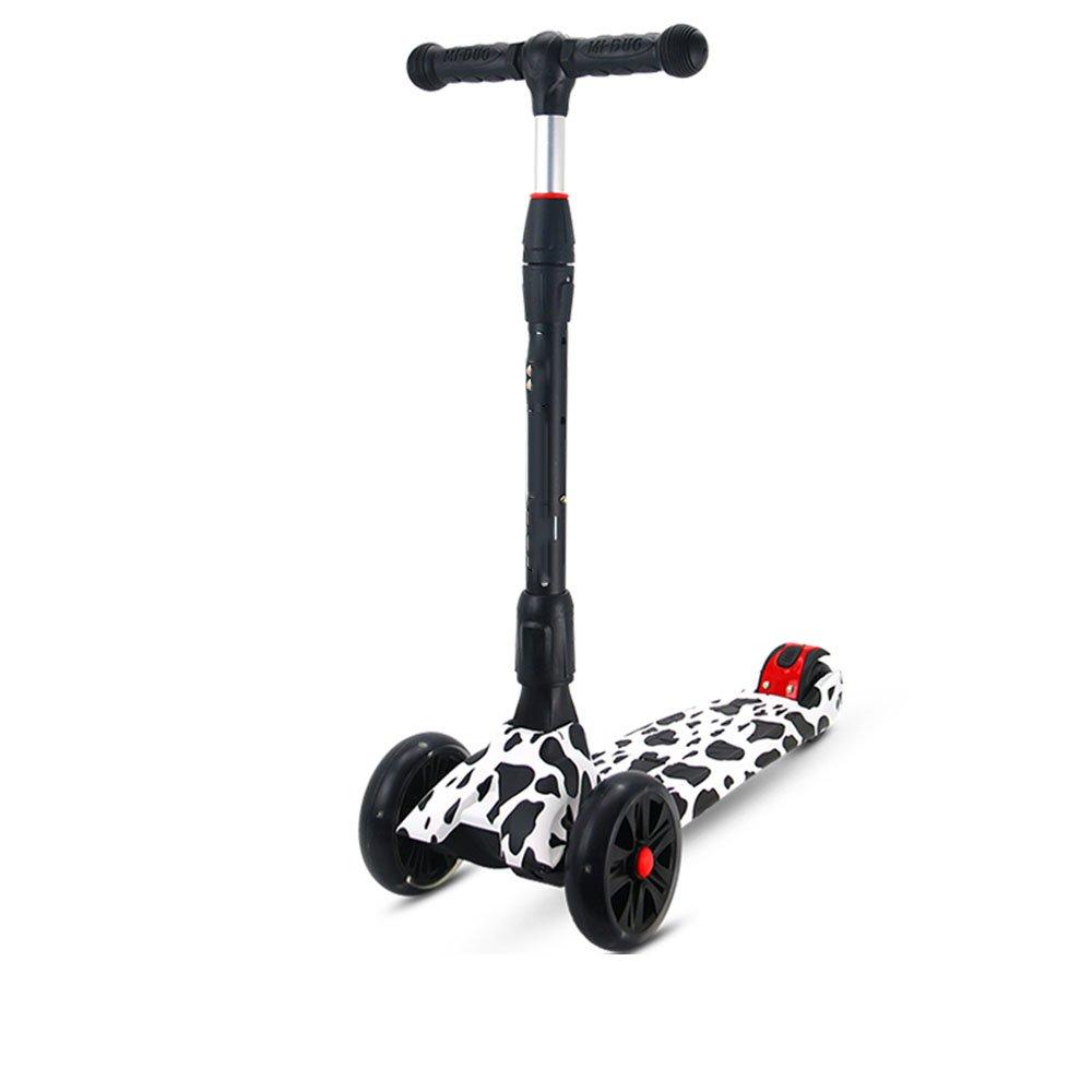 QFFL huabanche Roller dreirädrige Allrad Kinder Roller 2-6 Jahre alte Kinder Roller Gleitblock 600  250mm