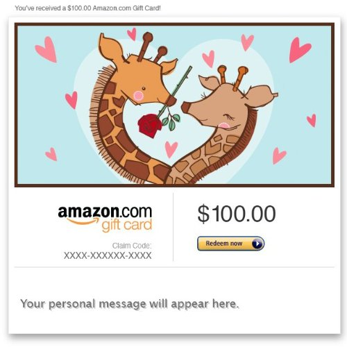 Amazon eGift Card - Loving Giraffes