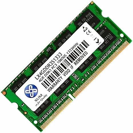 2x4GB XUM 1X 2X 1GB 2GB 4GB 8GB DDR3 DDR3-1333MHz 1333 PC3-10600 Sodimm for Laptop Memory Module RAM Komputer PC 8GB