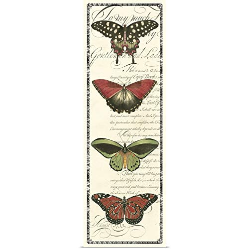(GREATBIGCANVAS Poster Print Entitled Butterfly Prose Panel I by Vision Studio 20