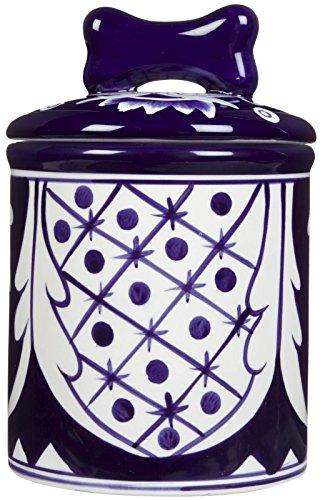 (Creature Comforts Mexican Treat Jar - Blue & White Talavera -)
