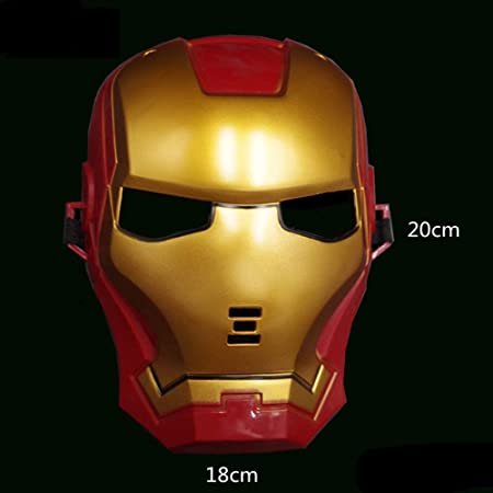 Máscara de Superhéroe LED Light Party Traje de Iron Man/Hulk ...
