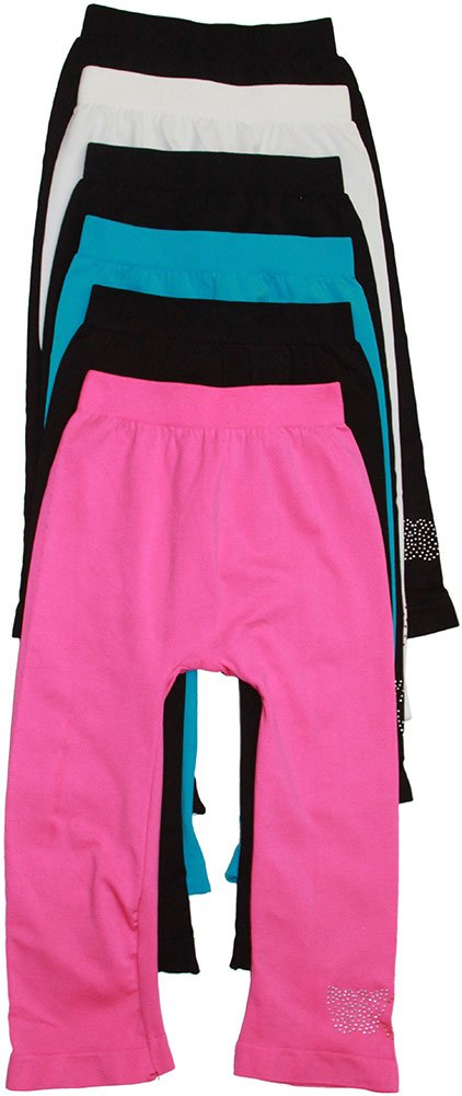 ToBeInStyle Pack of 6 Girls' Tights - Short - Peace Size: Large
