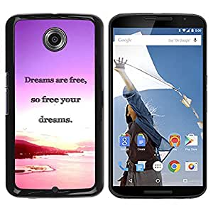 Caucho caso de Shell duro de la cubierta de accesorios de protección BY RAYDREAMMM - Motorola NEXUS 6 / X / Moto X Pro - Dreams Ocean Purple Pink Sunset