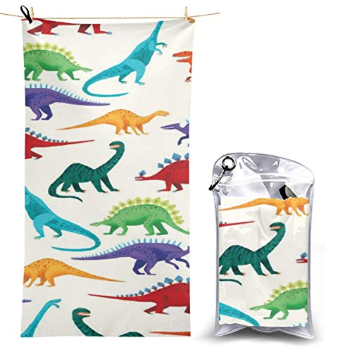 YOULUCK-7 Quick-Dry Microfiber Bath Towels, Dinosaurs Pattern Spa Towel]()