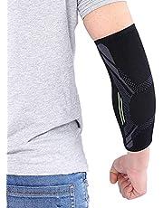 Armbågsskydd, 1 st Kunto fitness armbågsstöd kompressionsstöd ärmersättning för seninit, tennisarmbågsstöd och armbågsbehandling, artrit, träningspass (L)