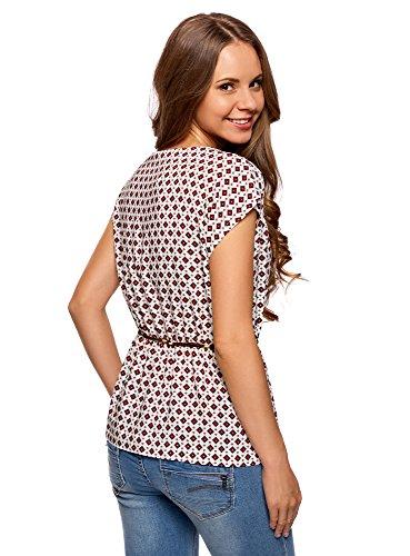 Femme en Viscose Blanc Imprime Ultra Blouse oodji 1249g 5qxRtvWwpw