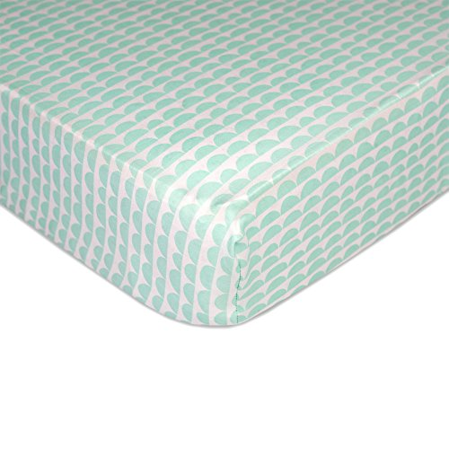 Sparrow Fitted Sheet - Mint Scallop by Lolli Living