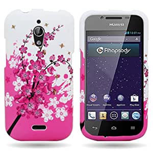 CoverON® White Pink Spring Flower Hard Slim Case for Huawei Vitria - with Cover Removal Pry Tool