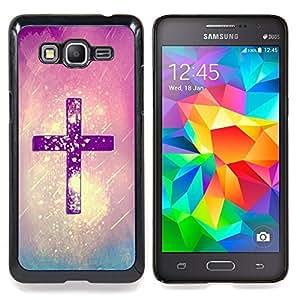 For Samsung Galaxy Grand Prime SM-G530F G530FZ G530Y G530H G530FZ/DS , Dios Purple Rain cristiana religiosa - Diseño Patrón Teléfono Caso Cubierta Case Bumper Duro Protección Case Cover Funda