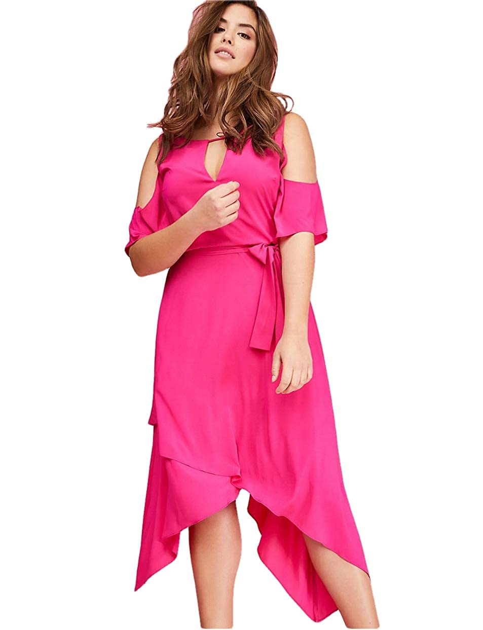 fd8453a69aa Lane Bryant Cold Shoulder Sharkbite Maxi Dress at Amazon Women s Clothing  store