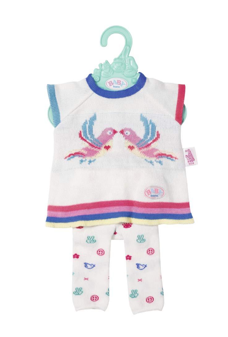 Zapf Creation - 826966 - Baby Born Trend - Ensemble de vêtements en Tricot - Rose/Blanc - 43 cm