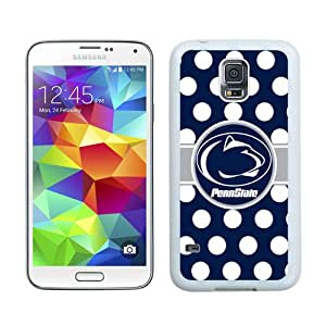 Ncaa Big Ten Conference Football Penn State Nittany Lions 13 White Case for Samsung Galaxy S5 i9600,Prefectly fit and directly access all the features