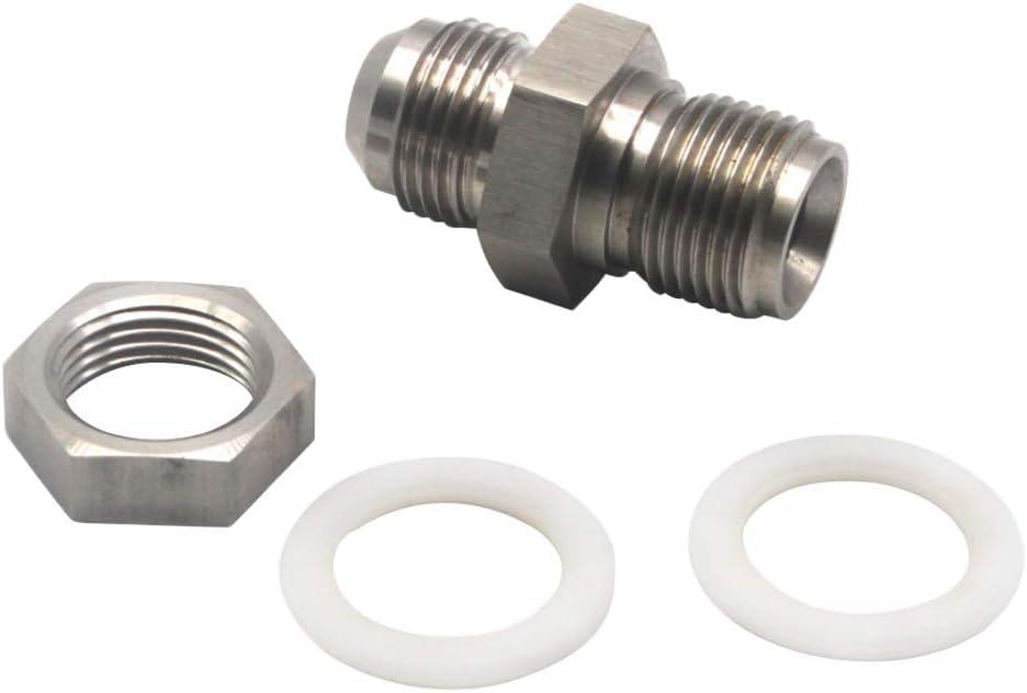 prasku Turbo Oil Pan Sump Return Drain Plug Adapter Bung