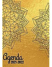 Agenda: idéal pour les écoliers, collégiens, lycéens et étudiants: 1 semaine sur 2 pages - Grand format A4 souple Couverture Couleur Or: Gold
