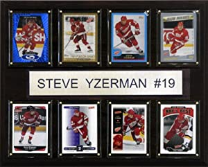 NHL Steve Yzerman Detroit Red Wings 8 Card Plaque