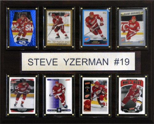 NHL Steve Yzerman Detroit Red Wings 8 Card Plaque from C&I Collectables