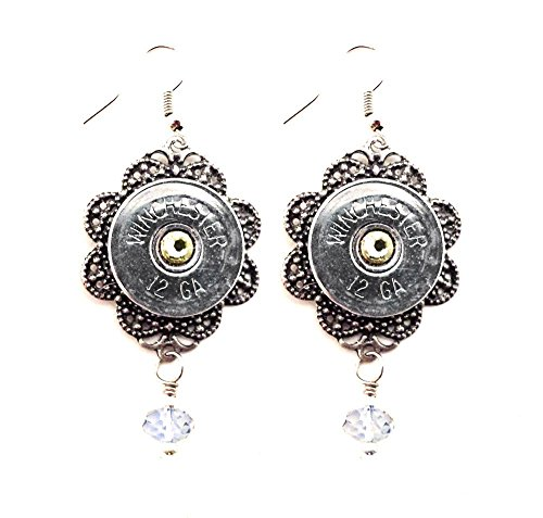 silver-tone-filigree-pierced-earrings-with-recycled-shotgun-shell-accent-and-crystals