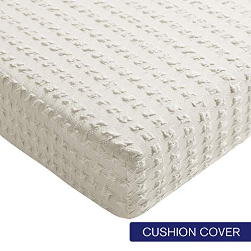 - Subrtex Spandex Elastic Couch Cushion Covers Stretch Chair Slipcover Furniture Protector for Sofa Seat Cushion (Chair Cushion, White Embossed)