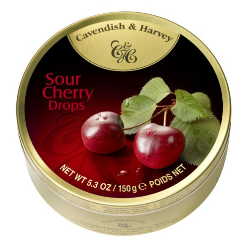 Cavendish & Harvey Fruit Candy Tin, Sour Cherry, 5.3 Ounce (Pack of 12) by Cavendish