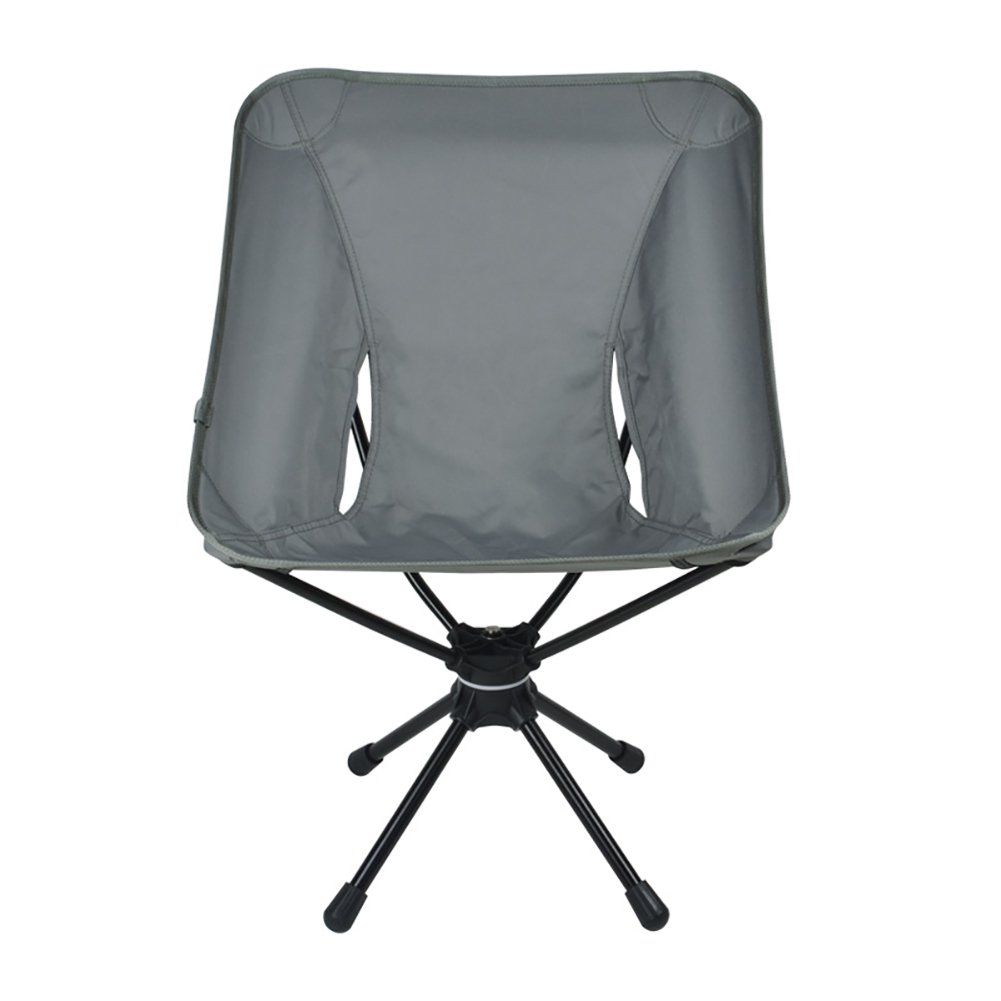 Anna Kletterstuhl Outdoor Klappstuhl 360 Grad Drehbare Lounge Sessel Licht Angeln Stuhl Aluminiumlegierung Camping Reise Stuhl Last 150 kg (Farbe : Grau)