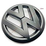 vw gti matte black emblem - Carbon Genetics Matte Black VW Polo 6R Front Grill Bonnet Badge Emblem GTI TDI TSI R - 2009-2013