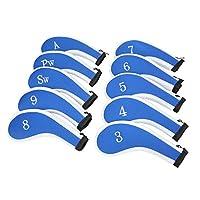 Sword &Shield sports Neoprene Zipper Golf Club Iron Head Covers Iron Covers 10pcs/Set