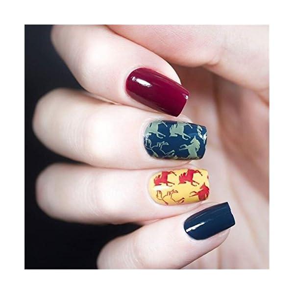 BORN PRETTY 1Pc Rectangle Stamping Plate Unicorn Pattern Manicure Nail Art Plate Harunouta L045 5